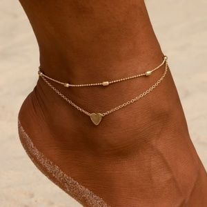 Jewelry - Layered Heart Anklet